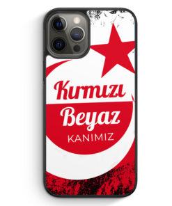 iPhone 12 Pro Max Silikon Hülle - Kirmizi Beyaz Kanimiz Türkei Türkiye