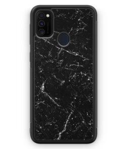 Samsung Galaxy M30s Silikon Hülle - Marmor Marble Schwarz