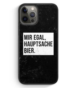 iPhone 12 Pro Max Silikon Hülle - Mir Egal Hauptsache Bier