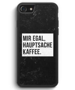 iPhone SE 2020 Silikon Hülle - Mir Egal Hauptsache Kaffee