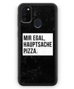 Samsung Galaxy M30s Silikon Hülle - Mir Egal Hauptsache Pizza