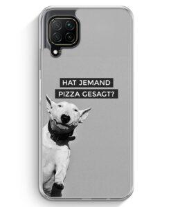 Huawei P40 lite Hülle - SW Bullterrier Pizza?