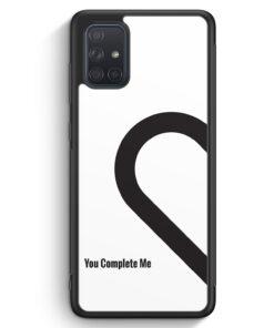 Samsung Galaxy A71 Silikon Hülle - You Complete Me #01