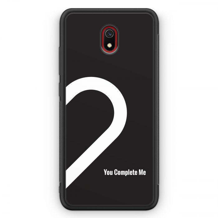Xiaomi Redmi 8A Silikon Hülle - You Complete Me #02