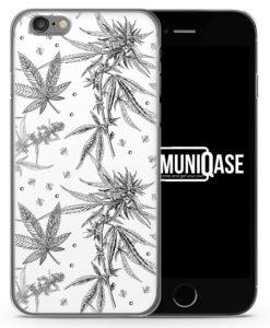 Weed Vintage Muster - Slim Handyhülle für iPhone 6 Plus & 6s Plus