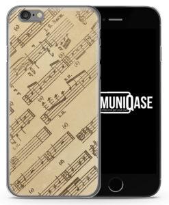 Musiknoten Seitlich Vintage - Slim Handyhülle für iPhone 6 Plus & 6s Plus
