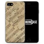 Musiknoten Seitlich Vintage - Slim Handyhülle für iPhone 7