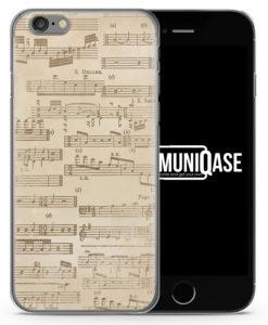 Musiknoten Vintage - Slim Handyhülle für iPhone 6 Plus & 6s Plus