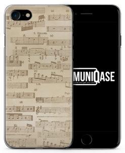 Musiknoten Vintage - Slim Handyhülle für iPhone 7