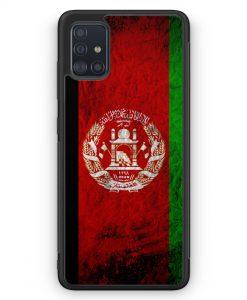 Samsung Galaxy A51 Silikon Hülle - Afghanistan Splash Flagge