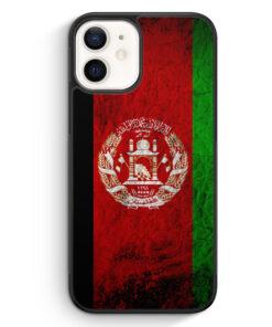 iPhone 12 Silikon Hülle - Afghanistan Splash Flagge