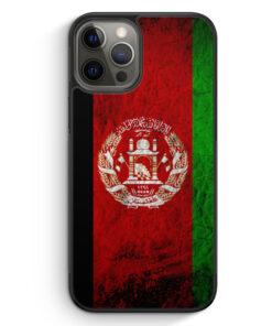 iPhone 12 Pro Max Silikon Hülle - Afghanistan Splash Flagge