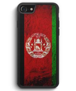 iPhone SE 2020 Silikon Hülle - Afghanistan Splash Flagge