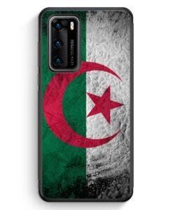 Huawei P40 Silikon Hülle - Algerien Splash Flagge