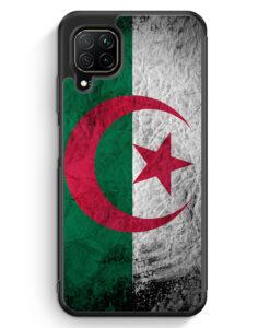Huawei P40 lite Silikon Hülle - Algerien Splash Flagge