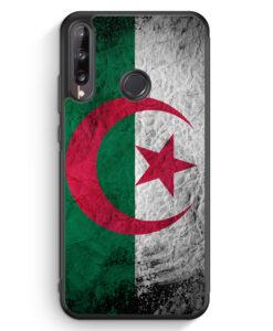 Huawei P40 lite E Silikon Hülle - Algerien Splash Flagge