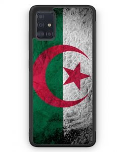 Samsung Galaxy A51 Silikon Hülle - Algerien Splash Flagge