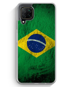 Huawei P40 lite Hülle - Brasilien Splash Flagge
