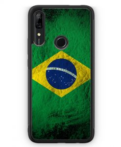 Huawei P Smart Z Silikon Hülle - Brasilien Splash Flagge