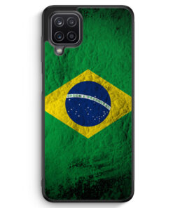 Samsung Galaxy A12 Silikon Hülle - Brasilien Splash Flagge