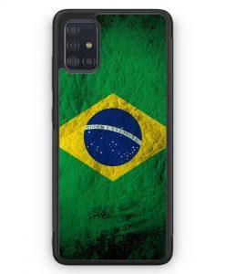 Samsung Galaxy A51 Silikon Hülle - Brasilien Splash Flagge