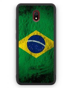 Xiaomi Redmi 8A Silikon Hülle - Brasilien Splash Flagge