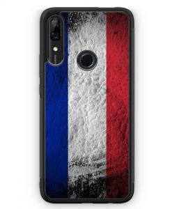 Huawei P Smart Z Silikon Hülle - Frankreich Splash Flagge