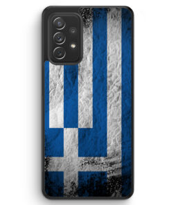 Griechenland Splash Flagge - Silikon Hülle für Samsung Galaxy A52
