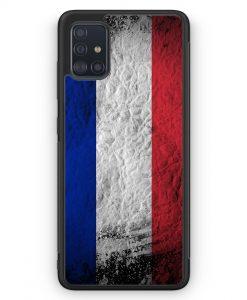 Samsung Galaxy A51 Silikon Hülle - Frankreich Splash Flagge