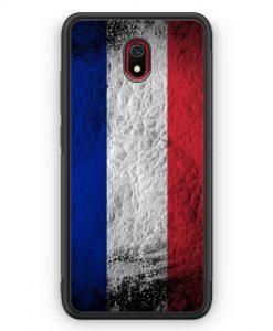 Xiaomi Redmi 8A Silikon Hülle - Frankreich Splash Flagge