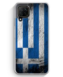 Huawei P40 lite Hülle - Griechenland Splash Flagge