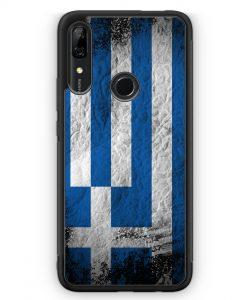 Huawei P Smart Z Silikon Hülle - Griechenland Splash Flagge