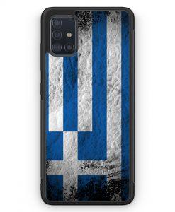 Samsung Galaxy A51 Silikon Hülle - Griechenland Splash Flagge