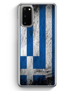 Samsung Galaxy S20 Hülle - Griechenland Splash Flagge