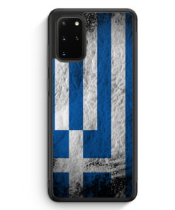 Samsung Galaxy S20+ Plus Silikon Hülle - Griechenland Splash Flagge