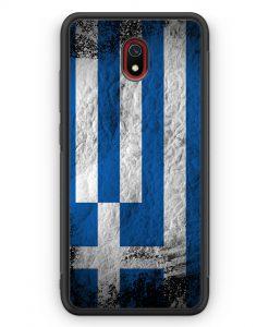 Xiaomi Redmi 8A Silikon Hülle - Griechenland Splash Flagge