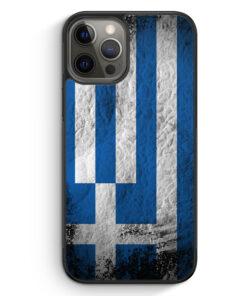 iPhone 12 Pro Silikon Hülle - Griechenland Splash Flagge
