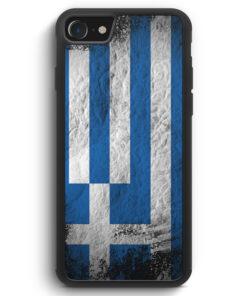 iPhone SE 2020 Silikon Hülle - Griechenland Splash Flagge