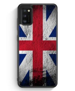 Samsung Galaxy A41 Silikon Hülle - Großbritannien Splash Flagge
