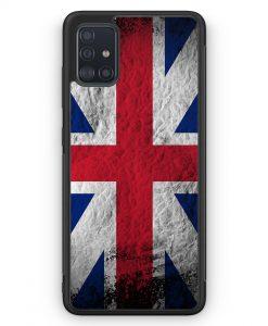 Samsung Galaxy A51 Silikon Hülle - Großbritannien Splash Flagge