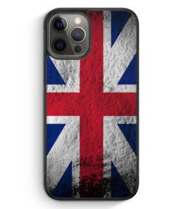 iPhone 12 Pro Silikon Hülle - Großbritannien Splash Flagge