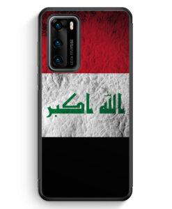Huawei P40 Silikon Hülle - Irak Splash Flagge