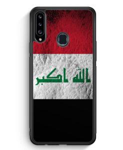 Samsung Galaxy A20s Silikon Hülle - Irak Splash Flagge