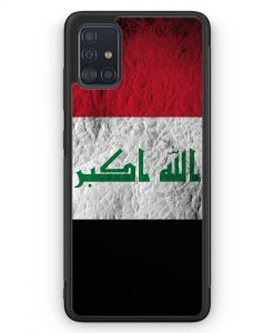 Samsung Galaxy A51 Silikon Hülle - Irak Splash Flagge