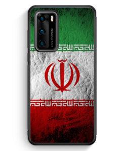 Huawei P40 Silikon Hülle - Iran Splash Flagge