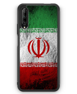 Huawei P Smart Pro Silikon Hülle - Iran Splash Flagge