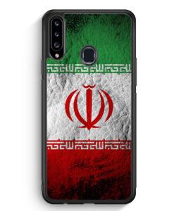 Samsung Galaxy A20s Silikon Hülle - Iran Splash Flagge