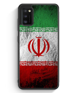 Samsung Galaxy A31 Silikon Hülle - Iran Splash Flagge