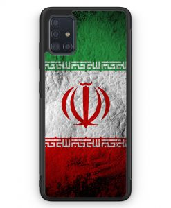 Samsung Galaxy A51 Silikon Hülle - Iran Splash Flagge