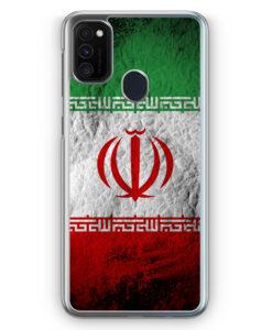 Samsung Galaxy M21 Hülle - Iran Splash Flagge